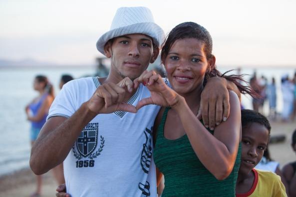 O amor está sempre presente na festa da Rainha do Mar.