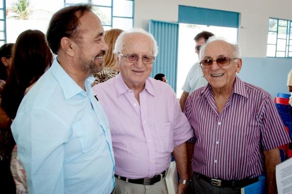 Astrogildo Miag, Helvécio Modesto Coelho e Alcides Modesto.