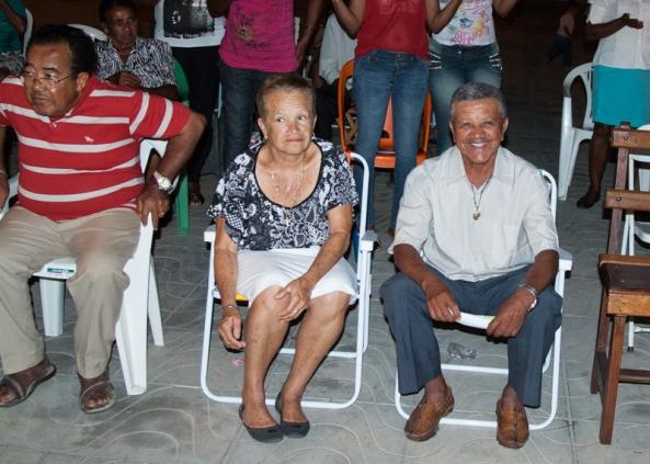 Dedezinho e esposa. 3ª Noite do Novenário de N. Sra. do Rosário.