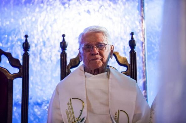 Padre José Potter. Procissão de N. Sra. do Rosário.