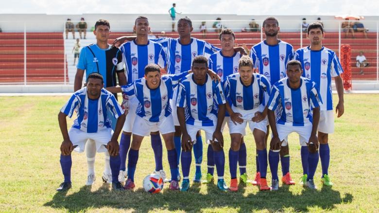 Seleção de Ribeira do Pombal: Denilton (1), Roberio (2), Acassio (3), Jejé (4), Gel (5), Felipe (6), Jefinho (7), Dema (8), Cleuber (9), João (10) e Lelinho (11)